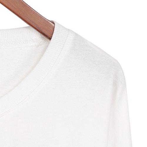 YNuth Femme Sweatshirt Fraises Lettre Imprimé Top Couleur A Choisir Kawaii Style Blanc