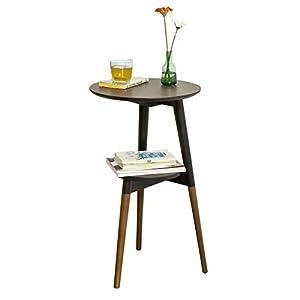 SoBuy FBT39 BR Design Beistelltisch Mit 2 Tischplatten, Couchtisch,  Kaffeetisch, Balkontisch
