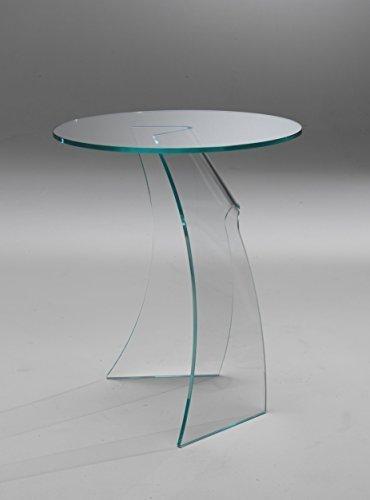 Mod. Wind tavolino servetto in vetro curvato | Negozio di tavoli moderni