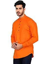 U-TURN Men's Cotton Short Kurta