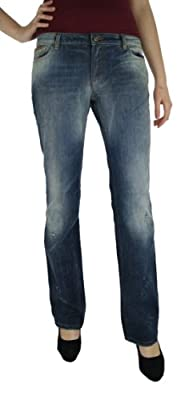Dolce & Gabbana Womens Slim Denim Washed out, Destressed vintage look Jeans, Straight Leg Size 32/UK 14