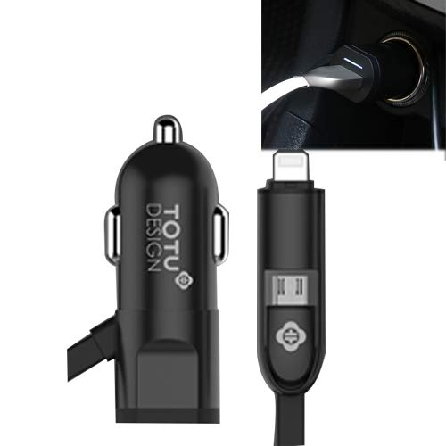 0cc1c3bc07449 TOTUDESIGN 3.4A ABS + PC Shell Smart Car Charger with 1.2 m Cable Length  for iPhone, Galaxy, Sony, Lenovo, HTC, Huawei and Other