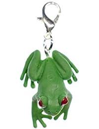 miniblings Árbol de la Rana de la Rana Encanto Tirador de la Cremallera de Goma Verde Colgante 25mm