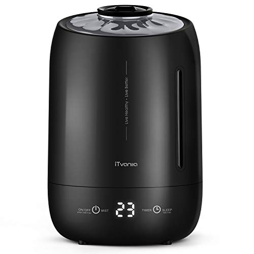 iTvanila Humidifier, 5L Humidifiers for Bedroom Living Room Office,Auto Shut-off Whisper Quite Air Humidifiers,last more than 40 hours.