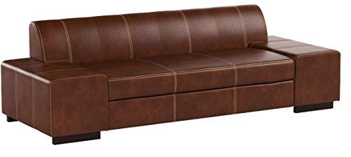 "Super Lange Echtleder 3 Sitzer Sofa ""London"" Breite 238cm Ledersofa Echt Leder Couch große Farbauswahl !!!"