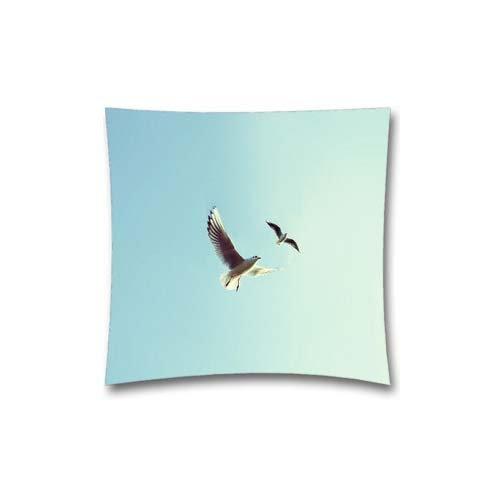 MLB throw Pillow case con piccioni uccello Fly Sky Animal Nature minimal design, cotone copertura del cuscino 45,7x 45,7cm (45x 45cm)