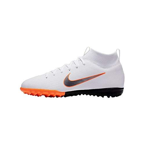 Nike Unisex-Kinder Mercurial SuperflyX VI Academy TF Fußballschuhe, weiß, 36.5 EU