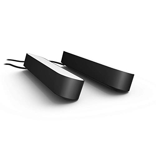Philips Hue Play Colour Wall Entertainment Light, Double Pack, Black
