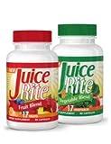 Juice-Rite Nahrungsergänzungsmittel | Vitamine zur gesunden Ergänzung der Ernährung | Hilfreich bei Diät, Sport und Stress| Für strahlende Gesundheit und Wohlbefinden | Gesund leben für die ganze Familie | Obst- und Gemüsekur