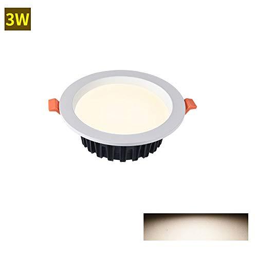 3 watt / 5 watt / 7 watt / 12 watt led deckeneinbau downlights energiesparende innenbeleuchtung wandleuchte spot runde deckeneinbau panel lampen for flur bad schlafzimmer küche bühne - Deckeneinbau-downlight