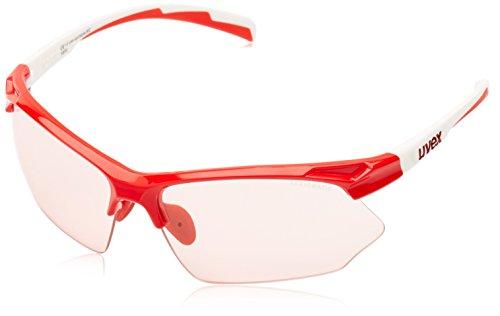 Uvex Sportstyle 802 Vario - Gafas de ciclismo unisex, color rojo / blanco, talla Ăşnica