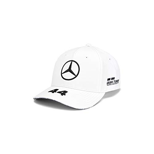 Mercedes AMG Petronas F1 Driver Lewis Hamilton Deckel Weiß Offiziell 2019