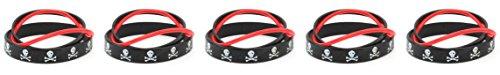 Zest 5Packungen von 3Totenkopf Mix Armbänder Halloween Pirat schwarz & rot (Halloween Mix Spooky)