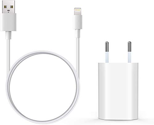 Everdigi Cargador Enchufe Adaptador USB + Cable Carga