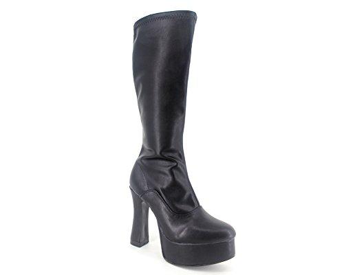 Wonderheel chunky high heel cosplay matt platform langschaft stiefel knee high boots (Knee High Boots Chunky Heel)