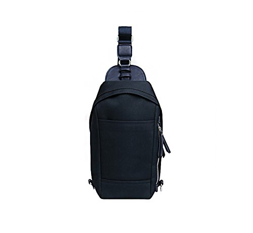 About Mall - Casual Canvas Unbalance Backpack Crossbody Sling Bag Shoulder Bag Chest Bag Hiking Backpack Sport Bicycle Rucksack Handbag School Daypack for Men & Women (Navy)
