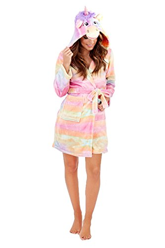 Ladies Robe Dressing Gown Winter Size 8 10 12 14 16 18 20 22 Unicorn Cow Rabbit Sheep Christmas Gift - 31bxhLVjSWL - Ladies Robe Dressing Gown Winter Size 8 10 12 14 16 18 20 22 Unicorn Cow Rabbit Sheep Christmas Gift