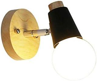 Retro lichtminimalist applique moderna in legno illuminazione