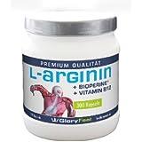 L-Arginine 4500, 300 capsules de L-arginine contenant 1300 mg, y compris de la Biopérine et de la vitamine B12...