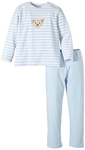 Steiff Mädchen Zweiteiliger Schlafanzug 2-tlg., Gestreift, Gr. 134, Blau (Steiff baby blue|blue 3023)