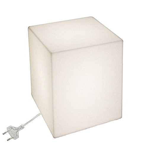Slide Cube Lampe de Table, 50x50, H 60, Blanc