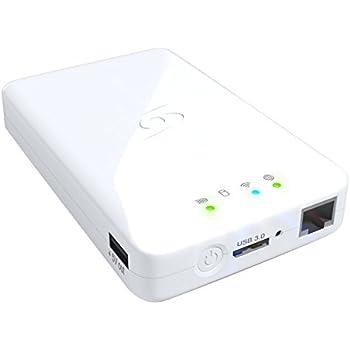 """Storex WeZee Disque dur externe portable 2,5"""" 500 Go USB 3.0/Wi-Fi/Ethernet Blanc"""