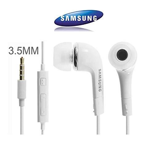 Véritable Original Samsung Blanc EHS64AVFWE Écouteurs intra-auriculaires pour Galaxy S7, S6 Edge Plus, S5 mini, S4 i9500, S4 Mini i9190, ( Bulk )