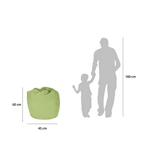 Lumaland Luxury XL Sitzsack stylischer Beanbag 120L Füllung verschiedene Farben Grün – Für alle Altersklassen - 4