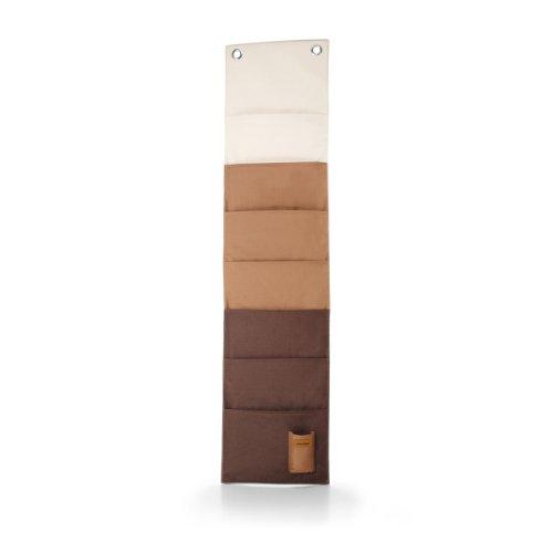 Wand-Magazinhalter, - - sand - braun, L 27cm, B 3cm, H 114cm