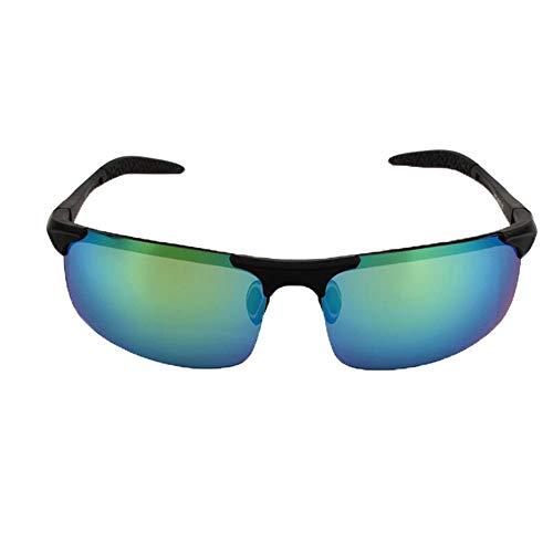 xinzhi Fahrrad-Sonnenbrillen, Herren-Sonnenbrillen polarisierte Sonnenbrillen Brille Imitation Aluminium Magnesium Brille - Gun Frame Green Film