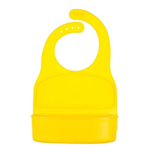 Baby Lätzchen Reisschüssel Babylätzchen Baby Silikon Lunch Box Teller Kinder Trennende Platte Platzset Rutschfester mit Saugnapf Abwaschbar leicht zu waschen (Gelb)