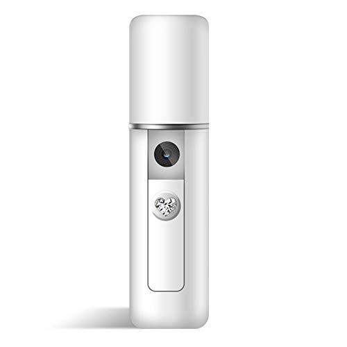 ATSWKJ Mini humidificador de Niebla fría portátil para la Cara hidratante hidratante Spray difusor, Nano humidificador de llenado de Agua (USB),withoutmirror
