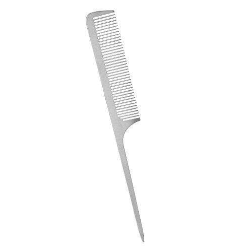 Sharplace Haarkamm aus Aluminium - Keine Statische Entwirren Kamm, Damen Herren Haarstyling Haarpflege Kämme, Frisierkamm - Silber K