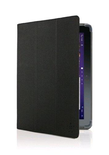 Belkin Trifold Schutzhülle mit Standfunktion (geeignet für Samsung Galaxy Tab 2 25,6 cm (10,1 Zoll)) schwarz