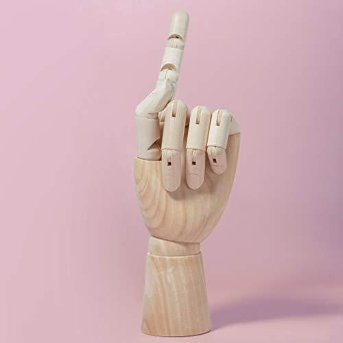 MONT MARTE Gliederhand – Modellhand aus Holz – linke Hand – 25,4 cm – Flexible Holzhand, ideal als Model zum Zeichnen - 4