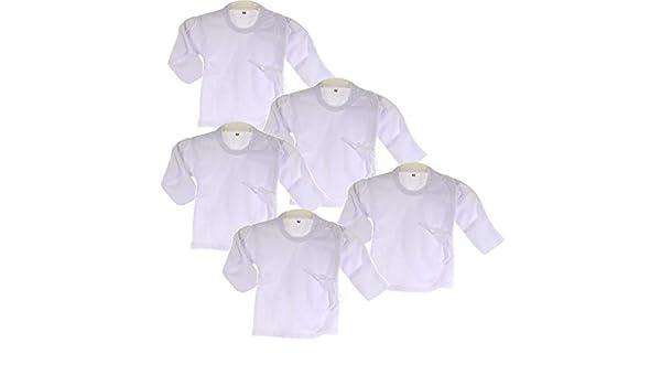 Hemdchen Wickelshirt Babyhemdchen Shirt Fl/ügelhemdchen 56 62 Wei/ß Hemd
