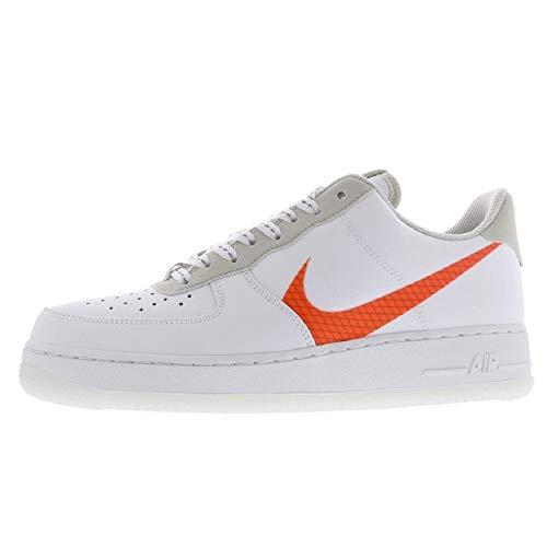 Nike Herren AIR Force 1 '07 LV8 3 Basketballschuh, White Total Orange Summit White Black, 47 EU