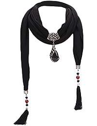 Transer® Foulards, Écharpe Pendentif Gland Perle en Céramique avec Perles  Femmes avec Glands Strass dc38070c50b