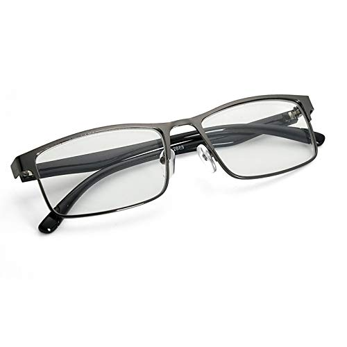 EgBert Mode Schwarz Kurzsichtig Gläser Metall Full Frame Myopie Brille - -1.5