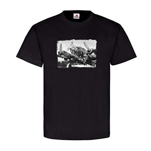 Militär Flugzeug Aufklärung Radar Antennen Landebahn Luftwaffe Armee Staffel Geschwader Landung Foto Bild T Shirt #20948, Farbe:Schwarz, Größe:Herren M