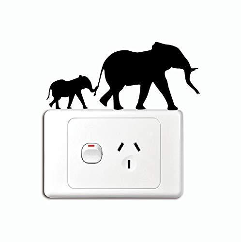 PANDABOOM Los Elefantes Cambian Pegatina Silueta Etiqueta De La Pared Vinilo Decoración...