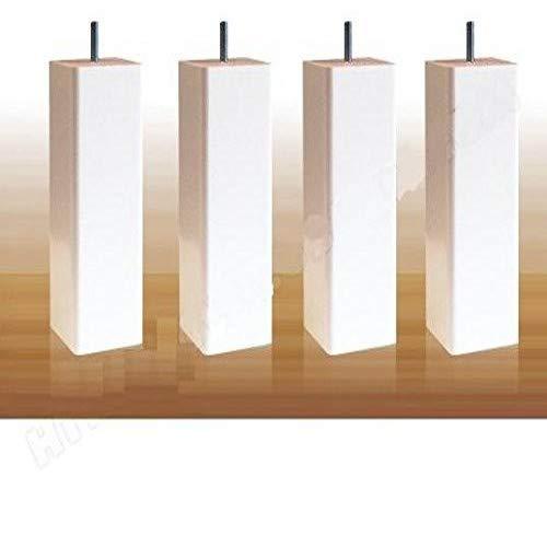 La Fabrique de Pieds Jeu de 4 Pieds de Lit Bois 15 x 5,5 x 5,5 cm Laqu/é Taupe