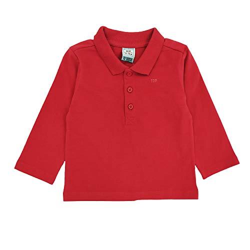 Top Top Baby-Jungen carrake Poloshirt, Rot (Rojo 400), 86 (Herstellergröße: 18-24)