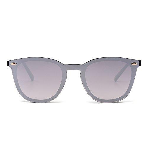 Gafas Sol Sin Montura Una Pieza Espejo Reflexivo Anteojos