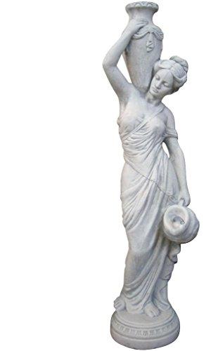 Wasserspeier Frau, Skulptur aus Steinguss, Figur