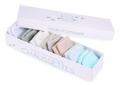 Doudou et Compagnie DC2491 - Establecer calcetines semanales para el bebé, varón, 7 piezas, colores surtidos
