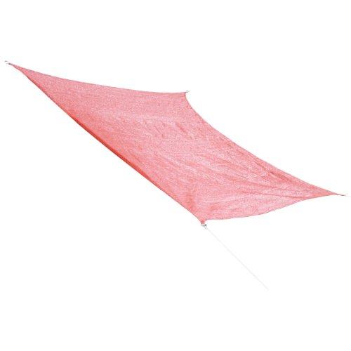 Corasol COR10 Voile d'ombrage perméable 3,6 x 3,6 m rouge