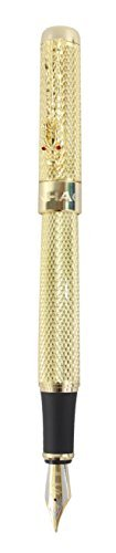 Sipliv 1200 pluma estilográfica con plumín medio clip de dragón - oro
