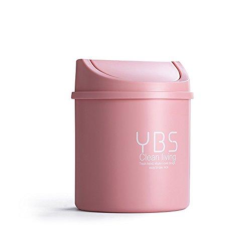 Ailina Bidone della spazzatura Trash ovale con coperchio oscillante, Capacità per bagno e ufficio