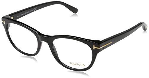 Tom Ford Unisex-Erwachsene Brille FT5433 001 51 Brillengestelle, Schwarz